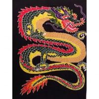 Tenture/paréo dragon de feu