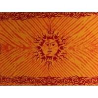 Tenture orange le soleil