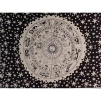 Tenture astrologia noir/blanc