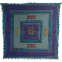 Tenture Chitwan bleu dorje yin yang