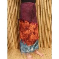 Jupe longue Maya Bay prune/rouille/bleu