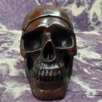 Cendrier marron crâne amovible