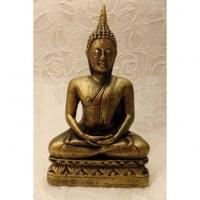 Bouddha Dhyani-Mudra doré