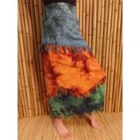 Jupe longue Maya Bay bleu/rouille/vert