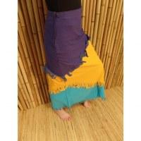 Jupe longue Maya Bay unie violet/orange/bleu clair