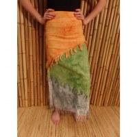 Jupe longue Maya Bay orange/vert/gris