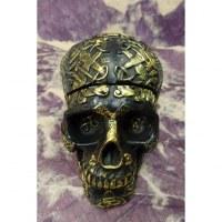 Cendrier crâne celte noir et or