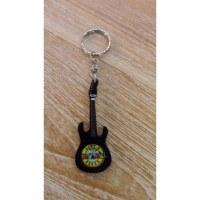 Porte clés noir/jaune guitare Guns N' Roses