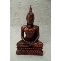 Bouddha cuivré Dhyani-Mudra