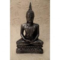 Bouddha gris Dhyani-Mudra