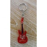 Porte clés rouge guitare motörhead