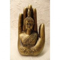 Main de Bouddha dorée