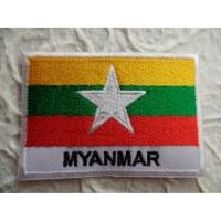Ecusson drapeau Birmanie ou Myanmar