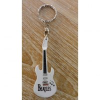 Porte clés blanc guitare Beatles
