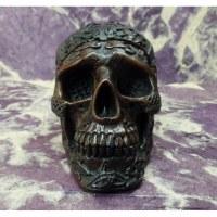 Cendrier crâne celte marron foncé