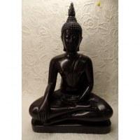 Bouddha bhumisparsha mudra noir