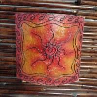 Lampe murale soleil rouge