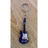 Porte clés bleu guitare AC/DC