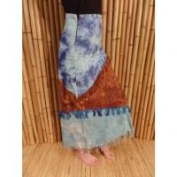 Jupe longue Maya Bay bleu/marron/bleu
