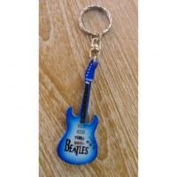 Porte clés bleu/blanc guitare Beatles