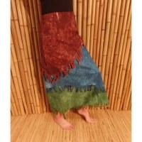 Jupe longue Maya Bay marron/bleu/vert