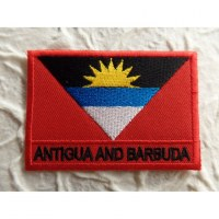 Ecusson drapeau Antigua et Barbuda