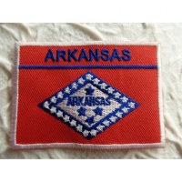 Ecusson drapeau Arkansas