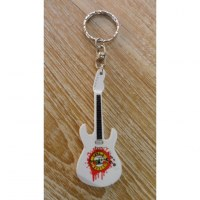 Porte clés blanc guitare Guns N' Roses