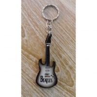 Porte clés noir/blanc guitare Beatles