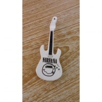 Magnet guitare Nirvana blanche