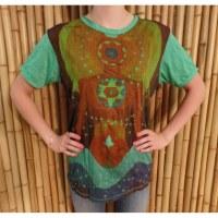 Tee shirt Bouddha zen vert