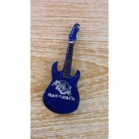 Magnet bleu guitare Iron Maïden