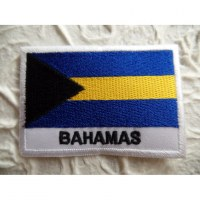 Ecusson drapeau Bahamas