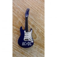 Magnet guitare AC/DC bleu