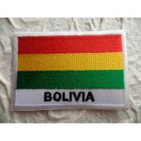Ecusson drapeau Bolivie