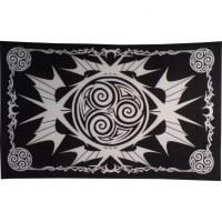 Tenture triskell tattoo noir et blanc
