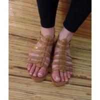 Sandales Tropéziennes Hicare miel