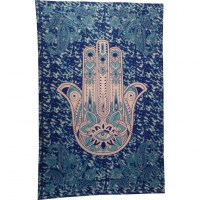 Tenture bleue main de Fatima