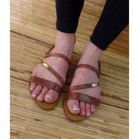 Sandales Tropéziennes Baden tan