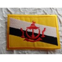 Ecusson drapeau Bruneï