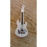 Magnet blanc guitare Beatles