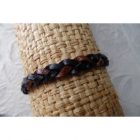Bracelet cuir bicolore 5