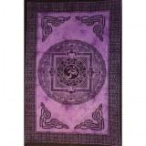 Tenture mandala Aum violet