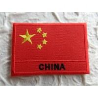 Ecusson drapeau Chine
