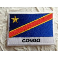 Ecusson drapeau Congo