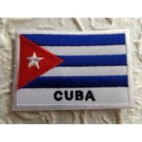 Ecusson drapeau Cuba