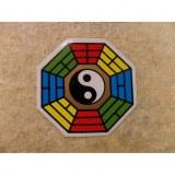 Petit autocollant couleur yin yang