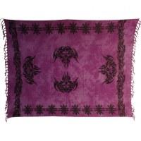 Mini tenture/paréo java violette