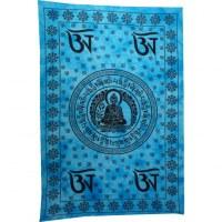 Tenture bleue Bouddha Aum