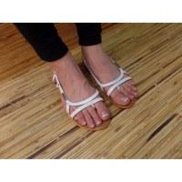 Sandales Tropéziennes Isatis blanc